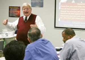 Michael Josephson conducts ethics workshop