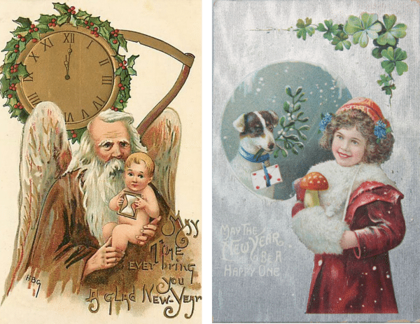 New Years Cards 14 and 15