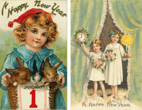 New Years Cards 17 and 18