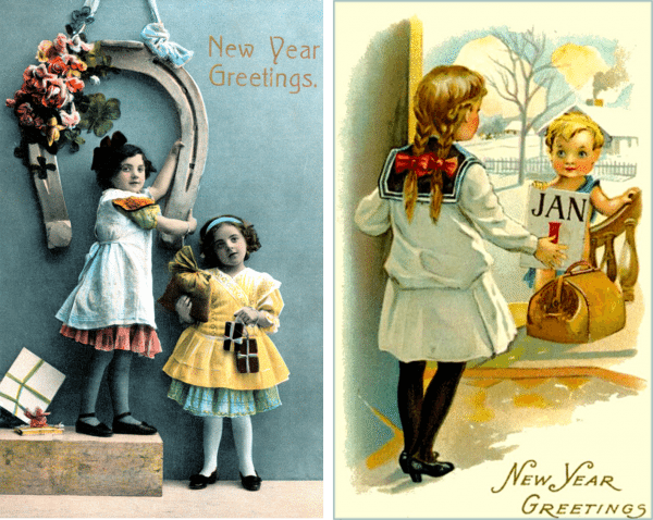 New Years Cards 19 and 20