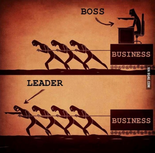A boss vs. leader