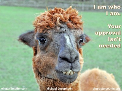 Post image for QUOTE & POSTER: I am who I am Your approval isn't needed