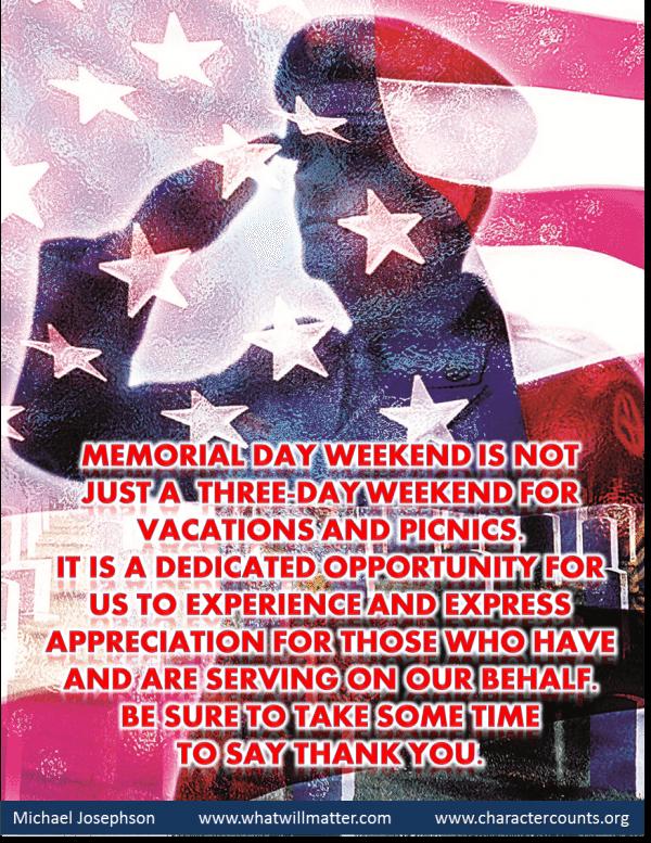 Memorial Day -salute thank you