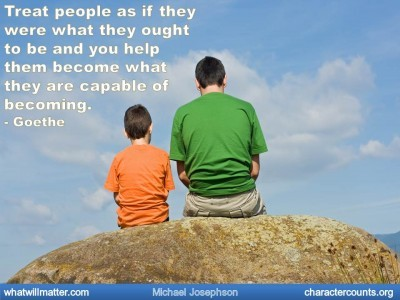 Post image for QUOTE & POSTER: Treat people as if they were what they ought to be and you help them become what they are capable of becoming. – Goethe
