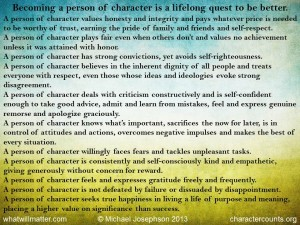 Post image for COMMENTARY 937.5: A Person of Character