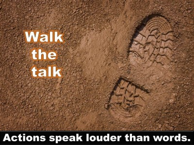 Post image for QUOTE & POSTER: Walk the talk