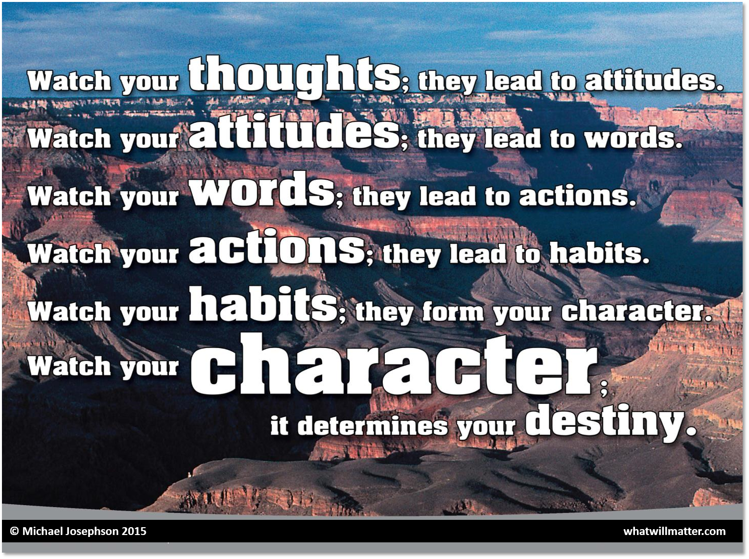 greatest quotes on character reputation and character education character destiny