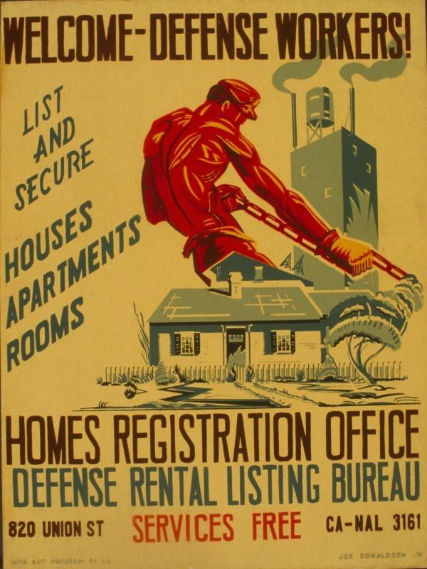 Patriotic Poster WWII_Recruiting_Civil_Defense_Housing
