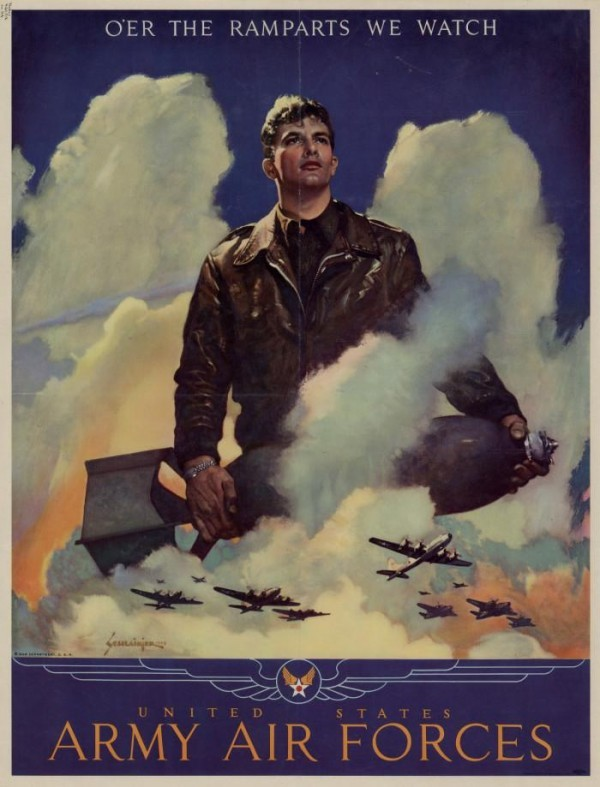 Patriotic Poster WWII_Recruiting_US_Air_Force
