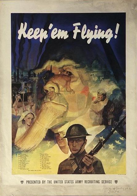 Patriotic Poster WWII_Recruiting_US_Army
