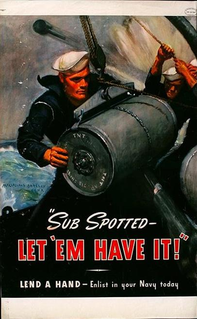 Patriotic Poster WWII_Recruiting_US_Navy