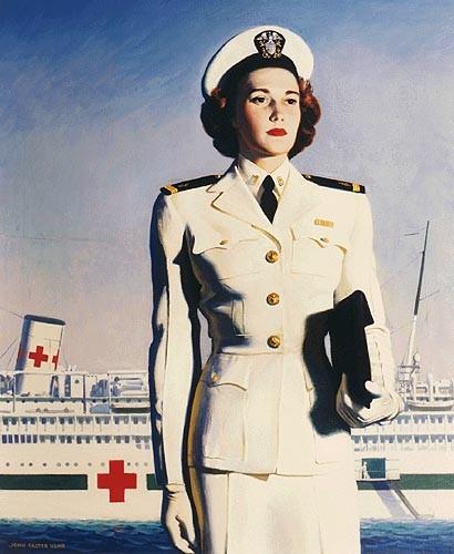 Patriotic Poster WWI_Recruiting_US_Navy_Nurse