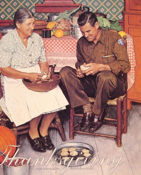 Rockwell, Thanksgiving - Mother & Son Peeling Potatoes 1945.jpg