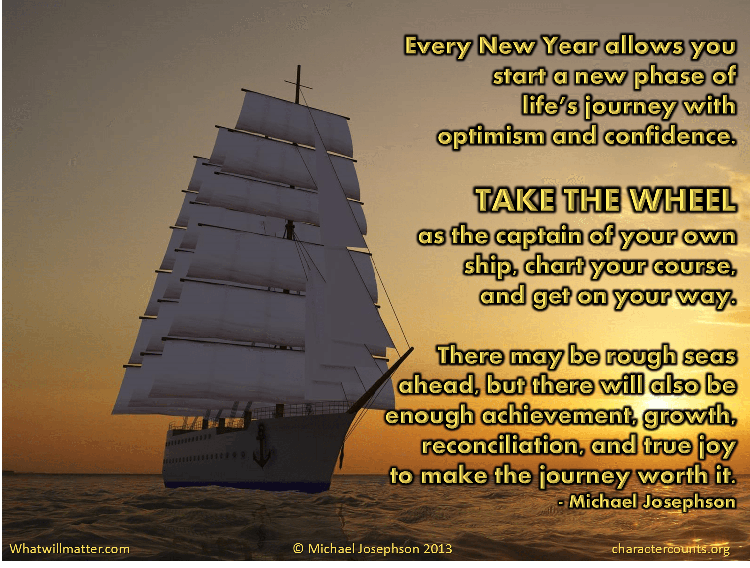 A New Year new journey – What Will Matter