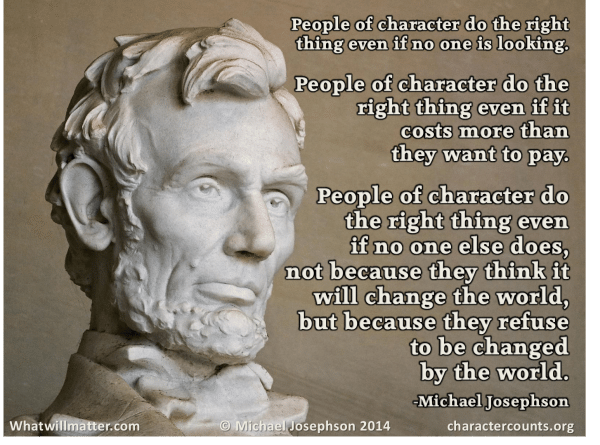 Post image for QUOTATION & POSTER: People of character …