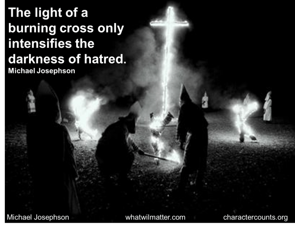 MLK Civil Rights KKK light of cross quote