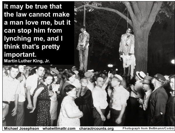 MLK Civil Rights Lynching quote