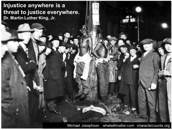 MLK Civil Rights lynch mob justice quote