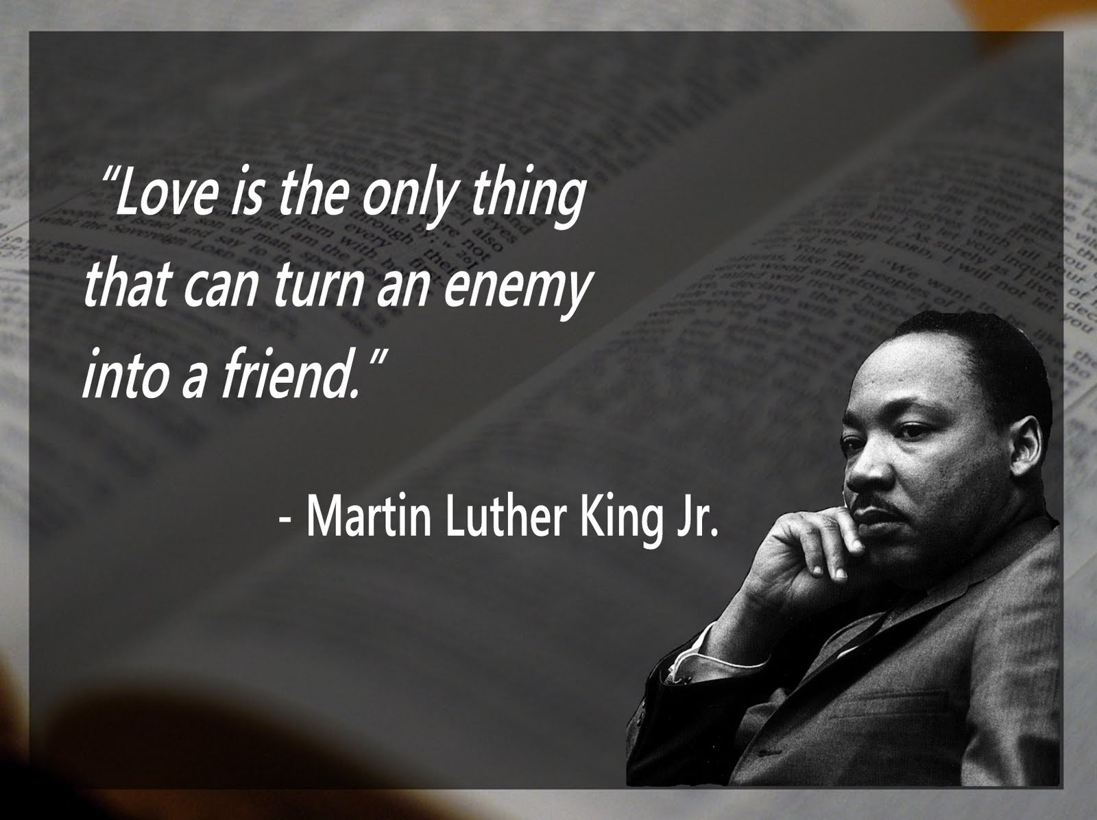 Martin Luther King Love Quotes Mlk In 30 Posters  What Will Matter