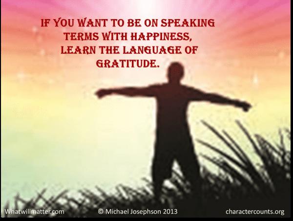 Gratitude - Speaking terms