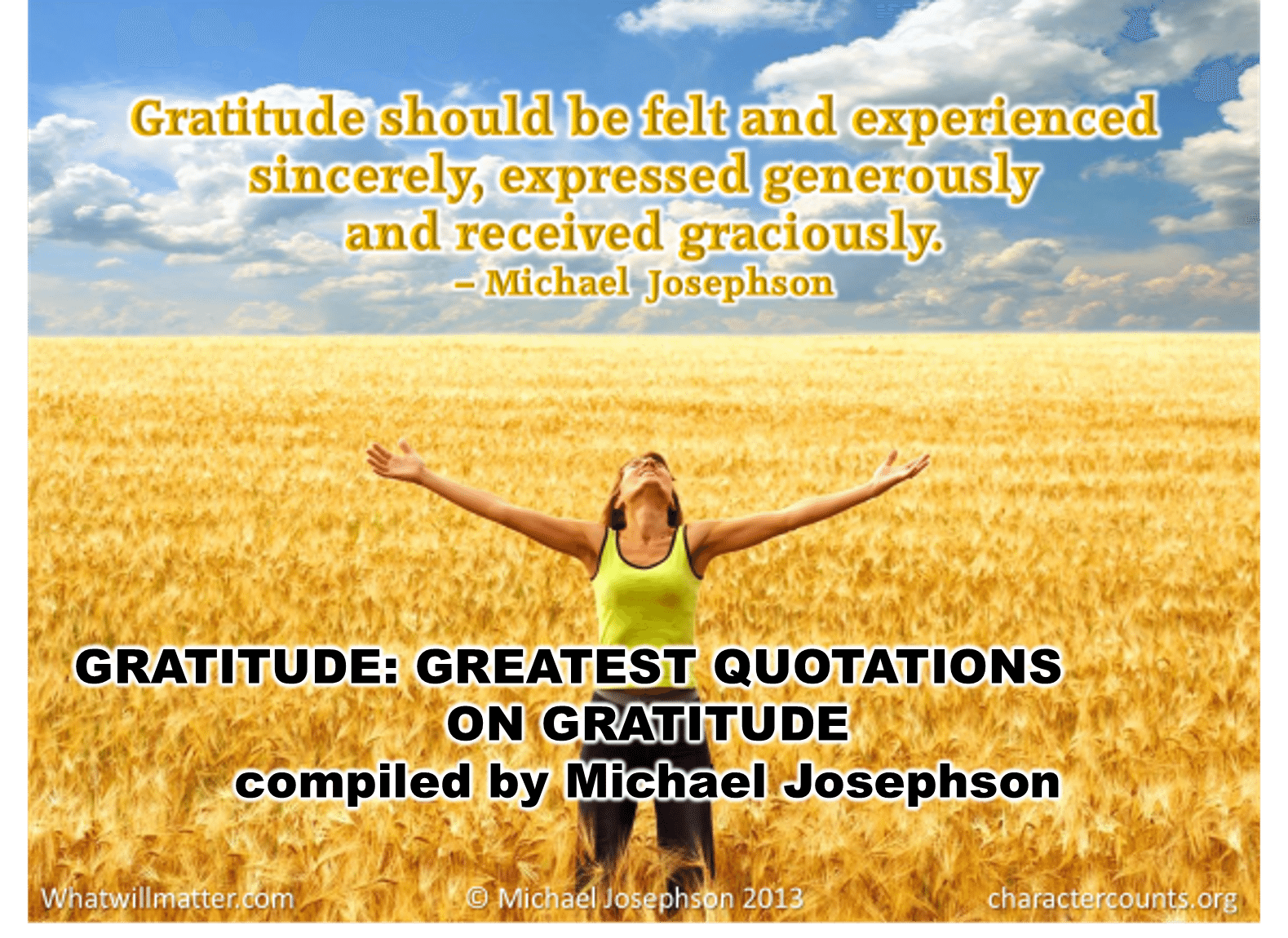 Quotes Gratitude Greatest Quotations On Gratitude  What Will Matter