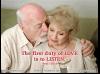 1 LOVE - 1ST duty to listen