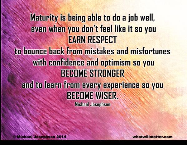 1 Life wisdom maturity 2