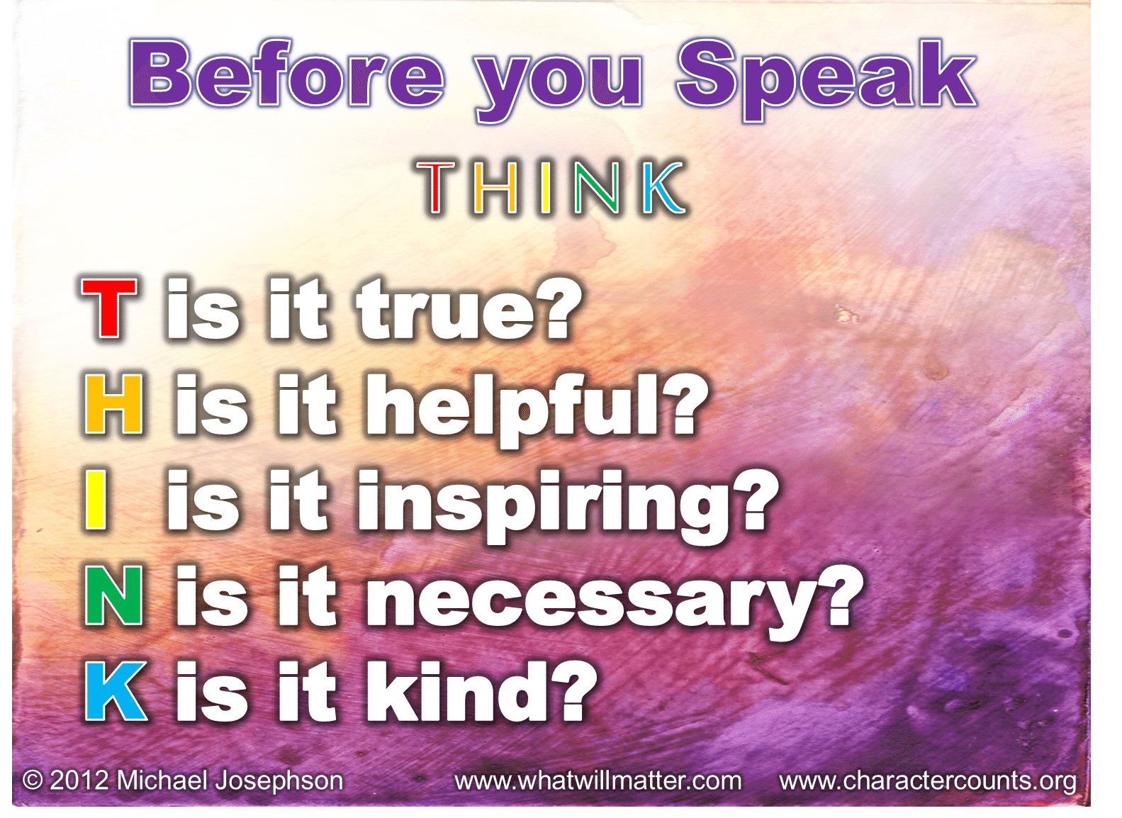 QUOTE & POSTER: Before You Speak