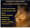 Integrity - can't afford to lose lion FB