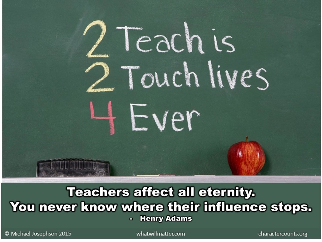 teacher affects eternity essay