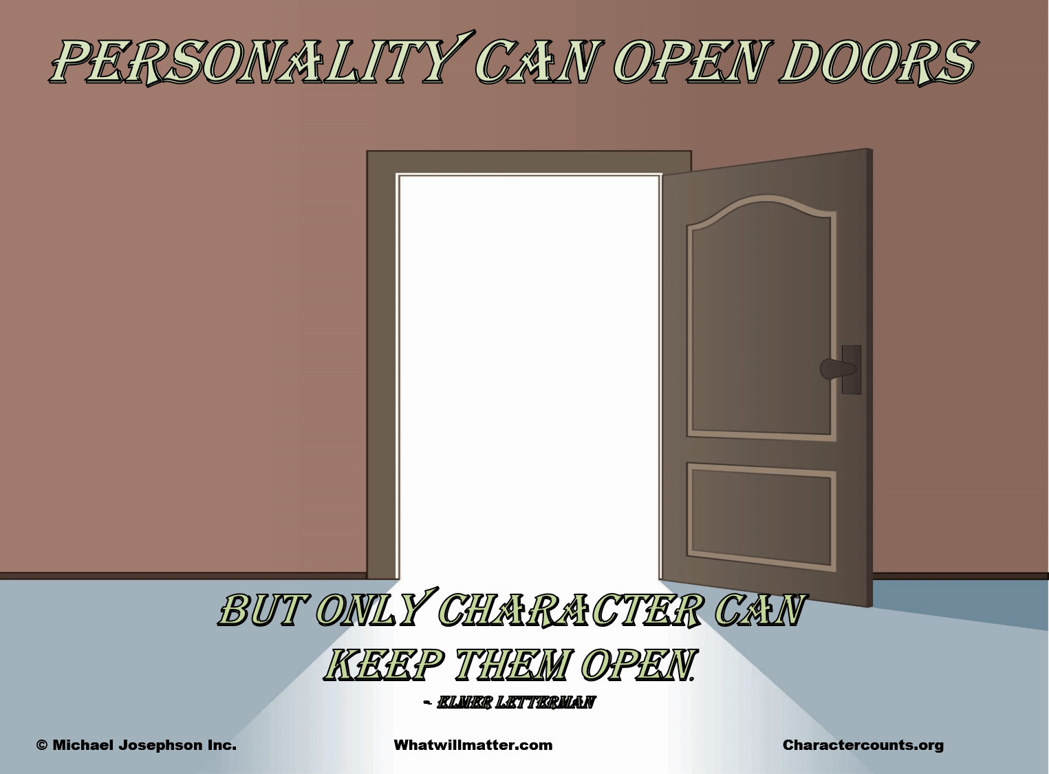 01 personality & Personality can open doors but only character can keep them open ...