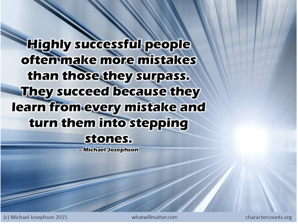 Learning - mistakes stepping stones