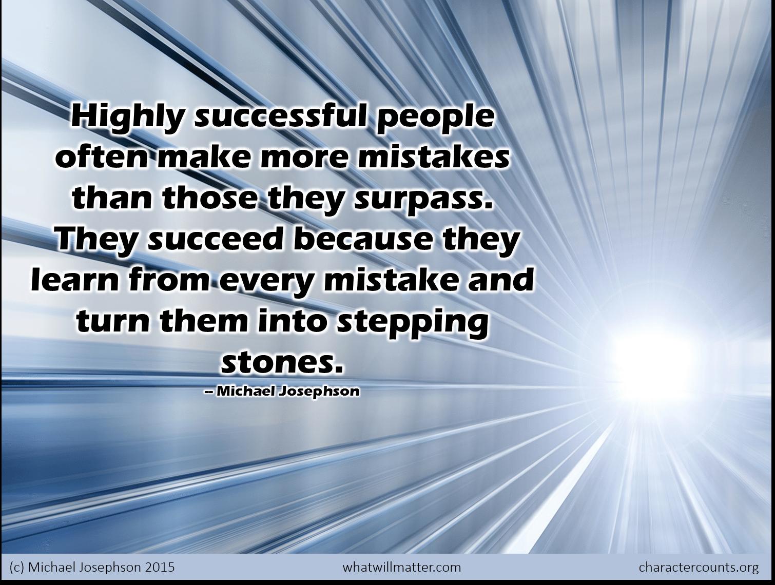 Using Stumbling Blocks as Stepping Stones
