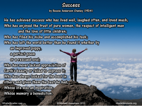 Success poem - bessie Stanley