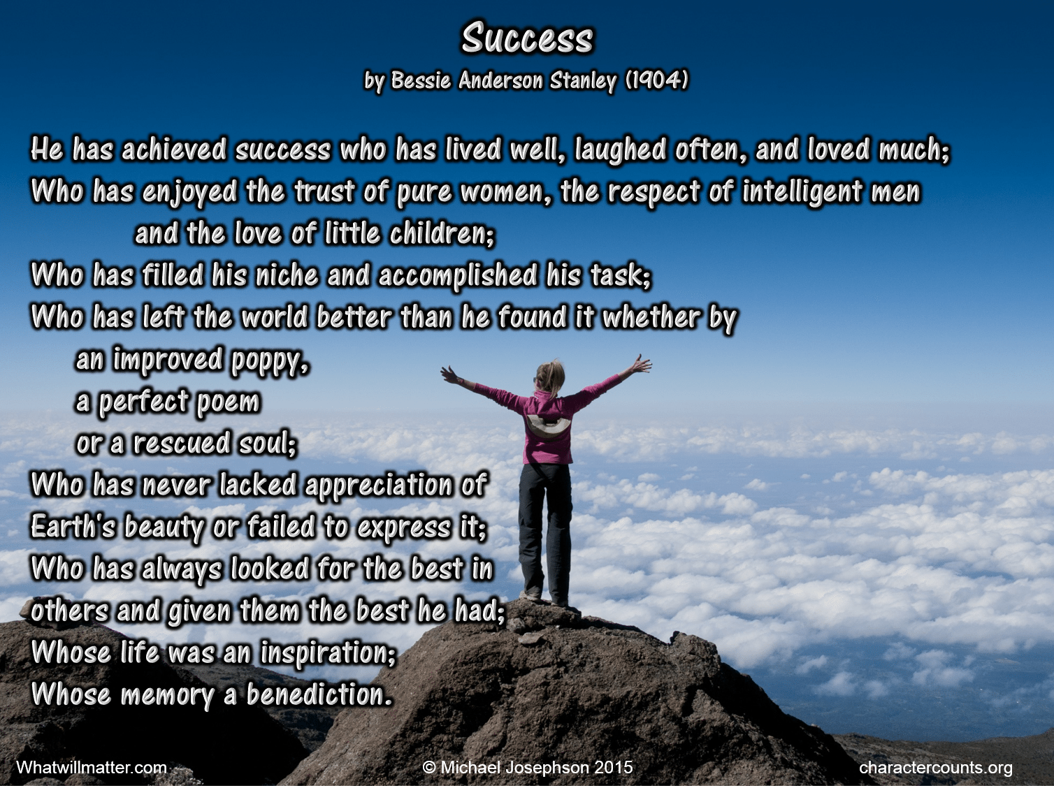 SUCCESS AND FAILURE MADE SIMPLE by Michael Josephson - What Will ...