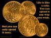 Wisdom - Life like a coin