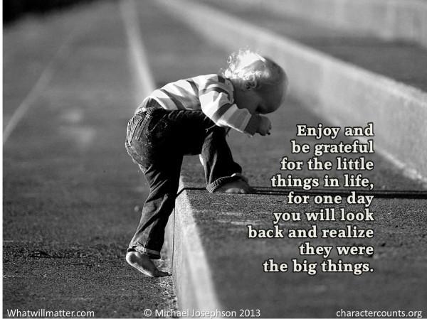 1 Gratitude - little things