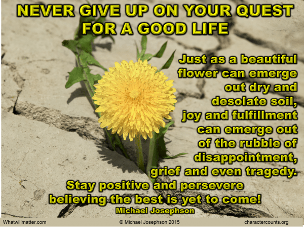 Perseverance - flower out of dry soil