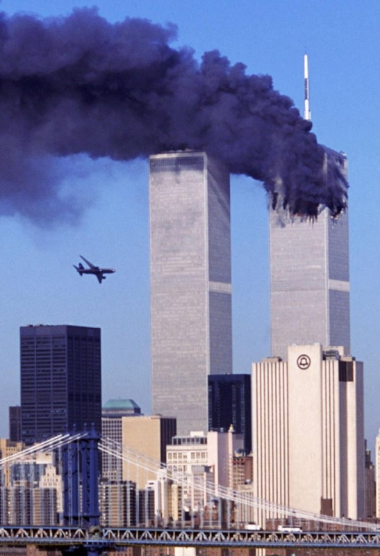 Historic moments - 9-11 incoming plane