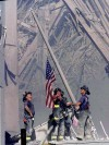 Historic moments - 9-11  raising the flag
