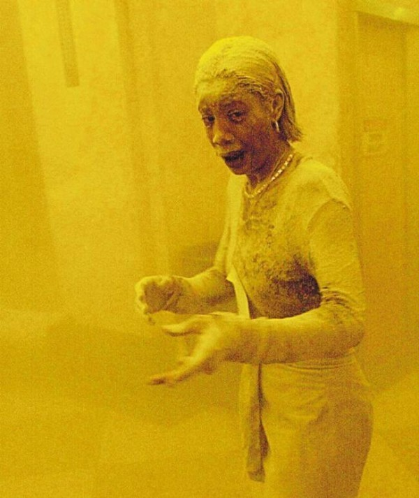 Historic moments - 9-11 woman in dust