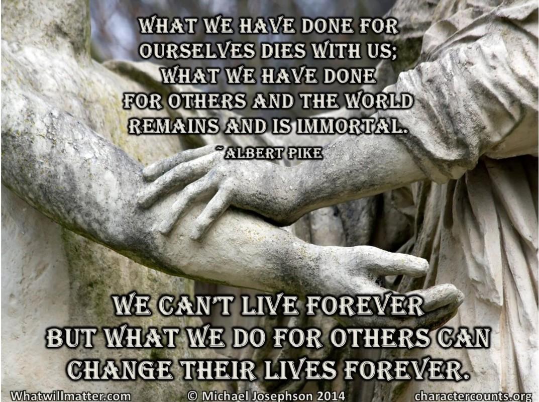 Caring - Kindness  immortal