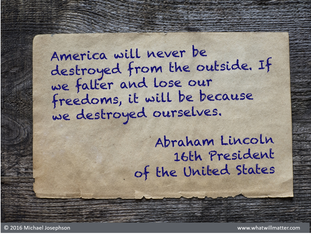 00 America -destroyed from within Lincoln