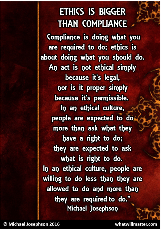 00 Ethics bigger than compliance