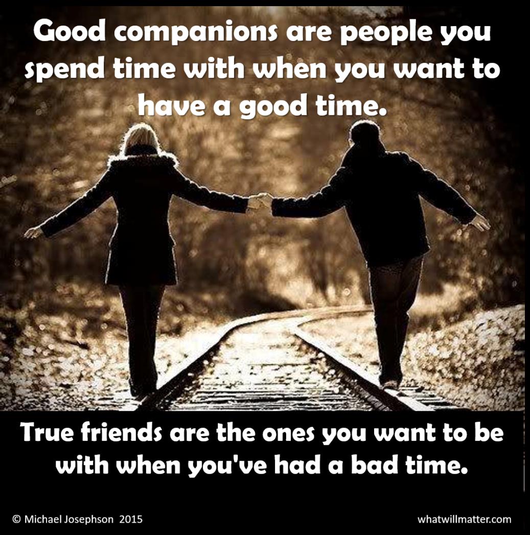 00 Friendship - companions vs friends