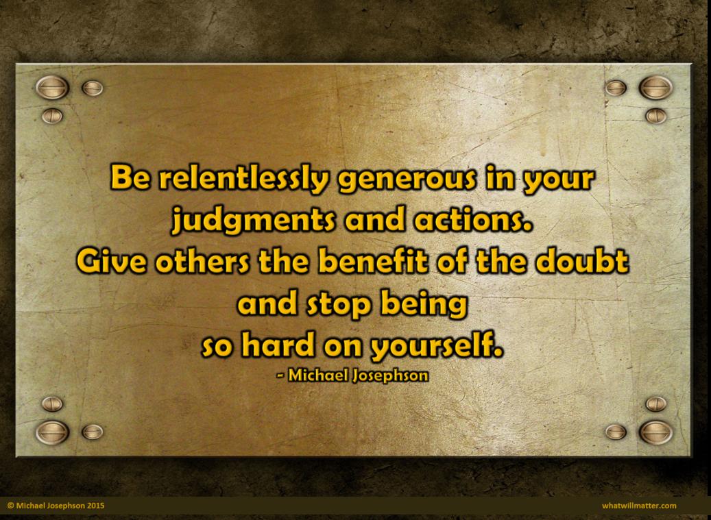 Caring - relentlessly generous