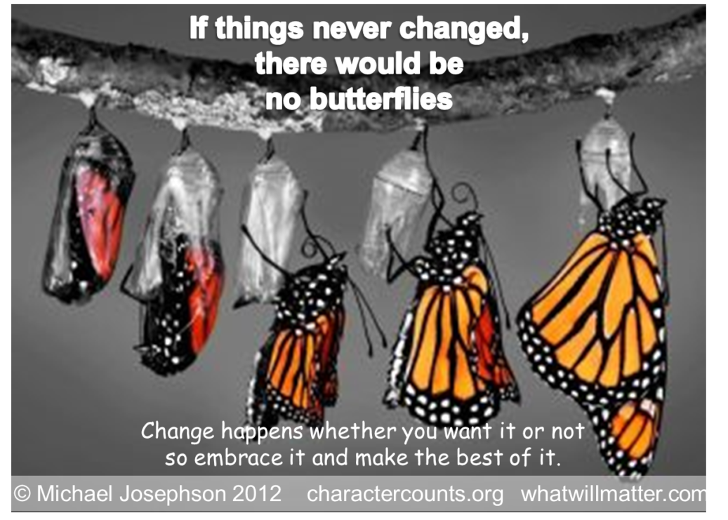 Change - if no change no butterfly FB