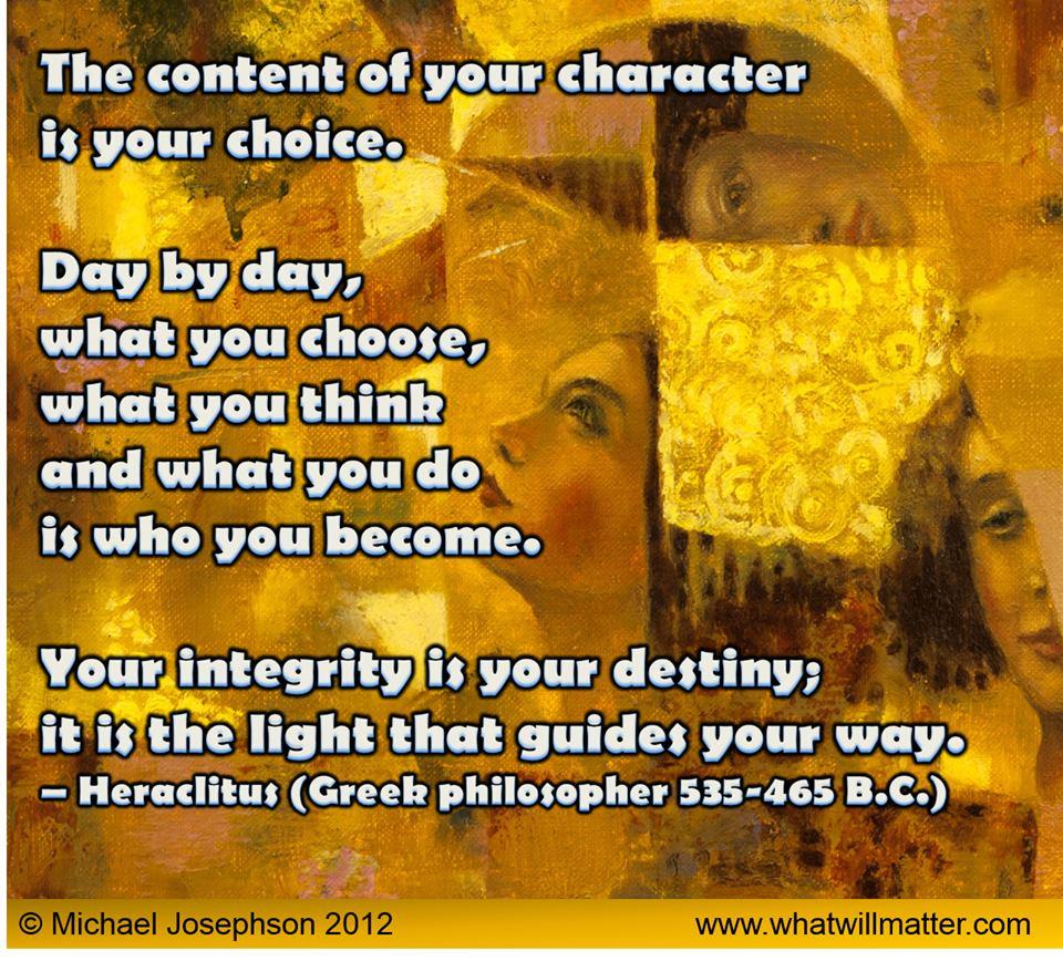 Character - choice