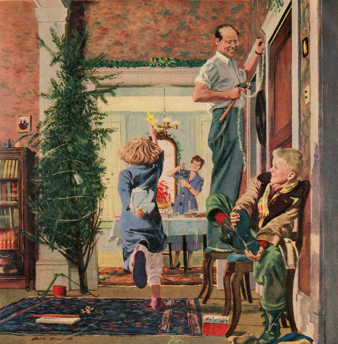 Norman Rockwell Christmas Paintings - 426 best I want I want I want ...