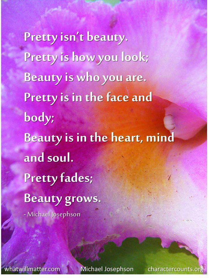 Pretty isn't beauty.